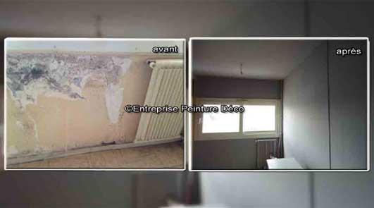 Problèmes humidité moisissures de mur à l'intérieur la maison