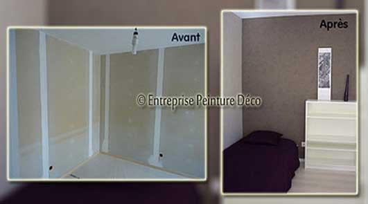 devis r novation papier peint prix pose d 39 une frise murale intiss. Black Bedroom Furniture Sets. Home Design Ideas