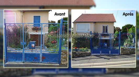 Repeindre Peinture extérieur de maison à rénover Sol, bois, façade, mur, balcon