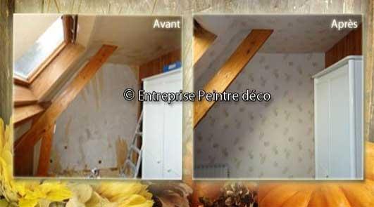 Rénovation blanchir des poutres anciennes à Saintry-sur-Seine