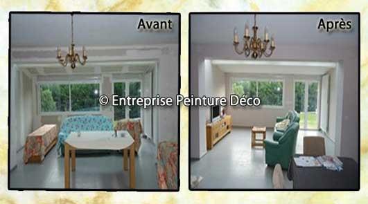 Rénovation salon, salle a manger d'habitat ancien Saint-Vrain