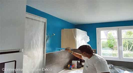 Rénovation de la peinture d'intérieur d'un appartement